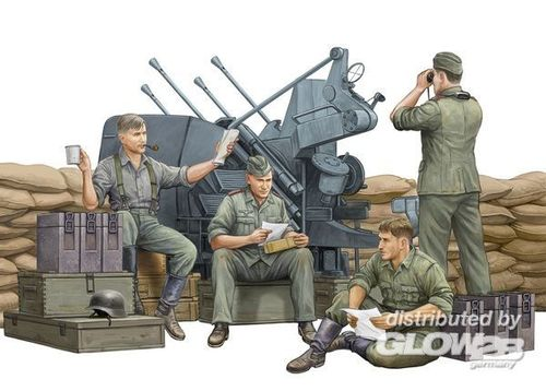 German Anti-Aircraft Gun Crew in 1:35