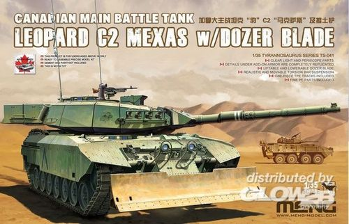 Canadian Main Battle Tank Leopard C2 MEXAS w/Dozer Blade in 1:35