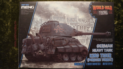 German Heavy Tank King Tiger (Porsche Turret) (Cartoon Model)