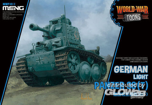 German Light Panzer 38(T) (Cartoon Model)