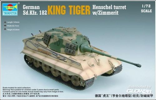 King Tiger Henschel Turret w/Zimmerit in 1:72